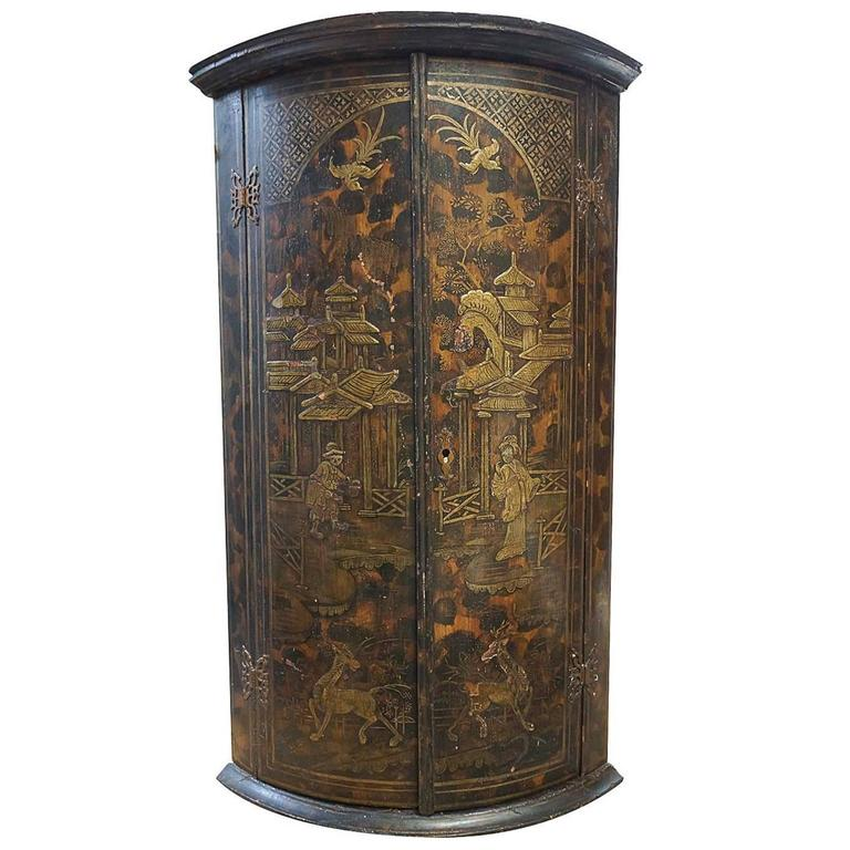 18th Century English Chinoiserie Corner Cabinet At 1stdibs