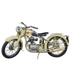 Vintage French New Map Motorcycle by Paul Martin