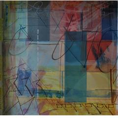 Marc St. Pierre Encaustic Painting 'Absence / Presence'