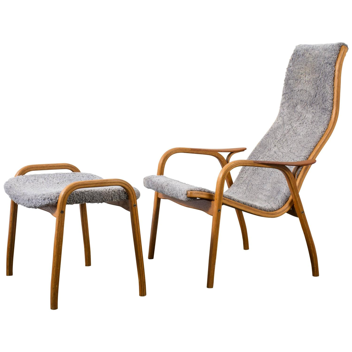 Yngve Ekstr?m Lamino Chair and Ottoman for Swedese Mobler at 1stdibs