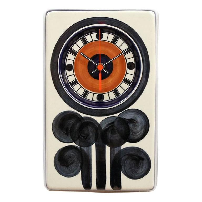 Rorstrand Ceramic Clock Designed by Marianne Westman For Sale