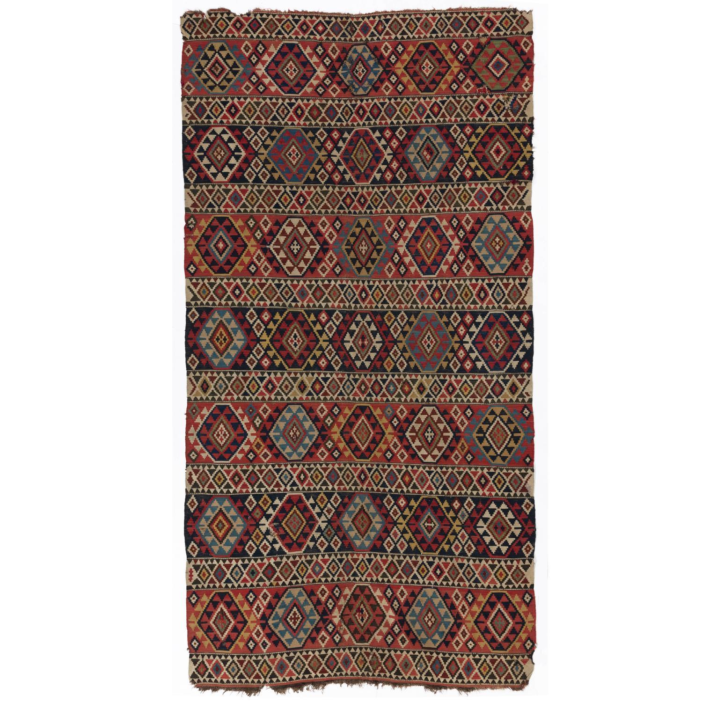 Caucasian Kilim Rug: Antique Caucasian Shirvan Kilim Rug At 1stdibs