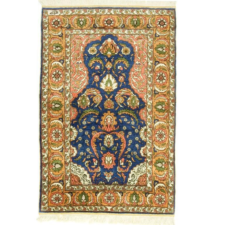 Vintage Turkish Silk Hereke For Sale