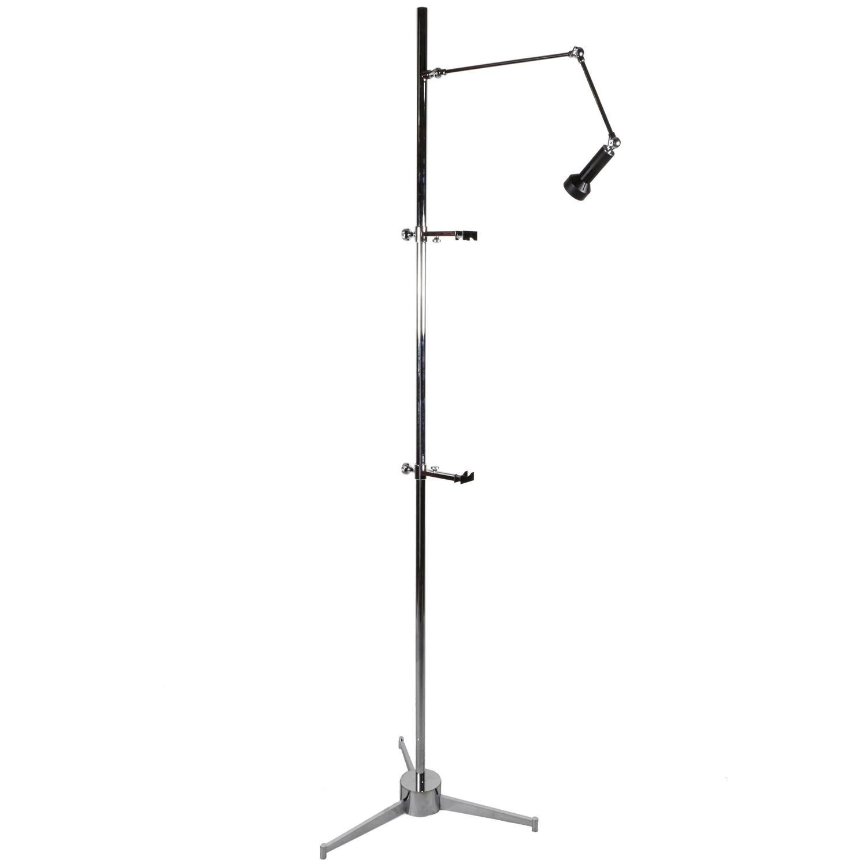 Chrome arredoluce easel floor lamp at 1stdibs for Lexington floor lamp chrome