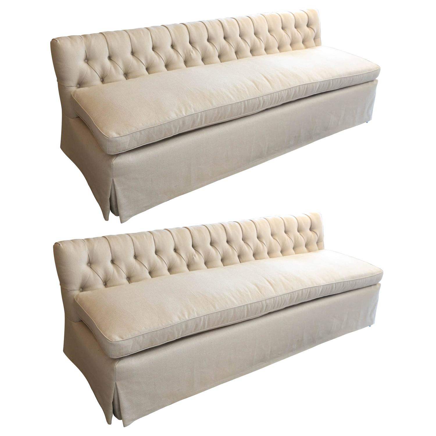 pair of vintage low armless sofa at stdibs -