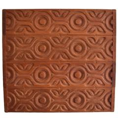 Sherrill Broudy for Panelcarve Redwood Panel Wall Hanging