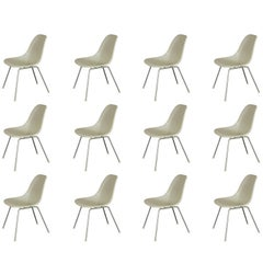 Eames for Herman Miller White Fiberglass Shell Chairs