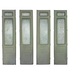 19th Century European Etched Glass Doors