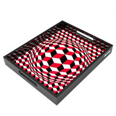 Lacquer Tray by Victor Vasarely