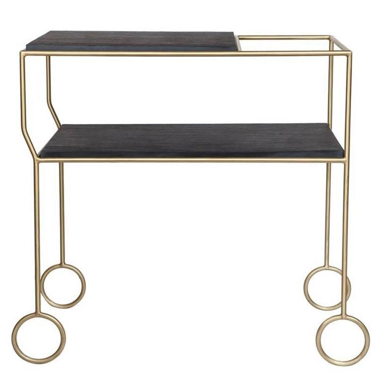 Biron Slate Top Bar Cart For Sale