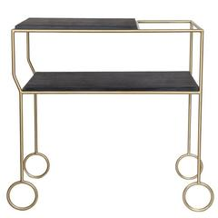 Biron Slate Top Bar Cart