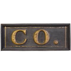 "19th Century ""Company"" Sign"