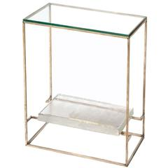 Floating Cast Glass Side Table