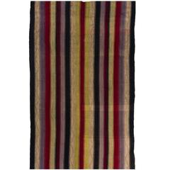 Banded Vintage Turkish Kilim