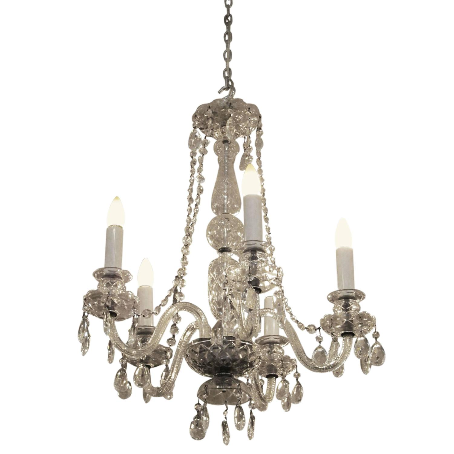 Waterford crystal chandeliers and pendants 9 for sale at 1stdibs 1940s restored waterford five arm chandelier with czech crystals aloadofball Images