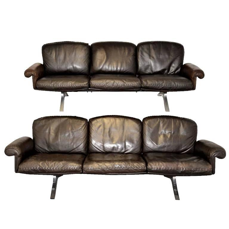 Vintage De Sede DS 31 Three-Seat Sofas, 1970s