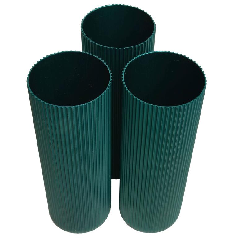 Alcoa Anodized Aluminum Vases  For Sale