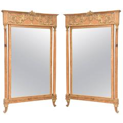 Pair of Empire-form, Parcel Gilt Mirrors