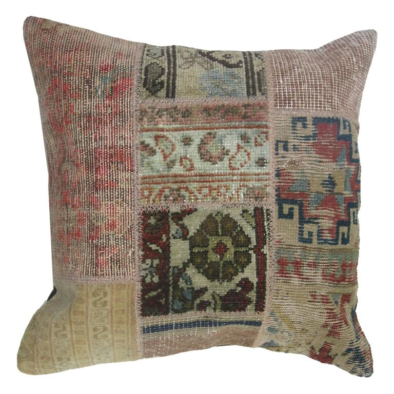 Rug Patchwork Pillow For Sale