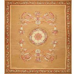 Large Antique French Aubusson Carpet