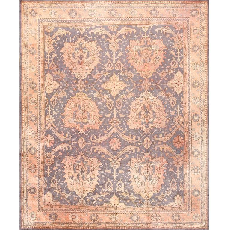 Large-Scale Antique Turkish Oushak Rug
