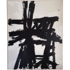 Original Black and White Painting by Argentine Artist Karina Gentinetta