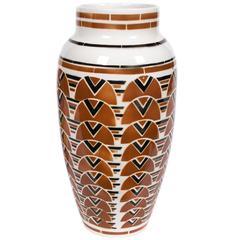 French Art Deco Period Ceramic Vase by Keller & Guerin Luneville, circa 1920s