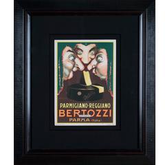 "Italian Art Deco ""Carton"" Poster for Parmesan Cheese by Mauzan, circa 1930"
