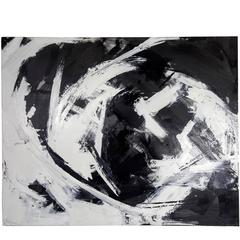 Large Dramatic Abstract Oil on Canvas Painting by Guillermo Calles, 2013
