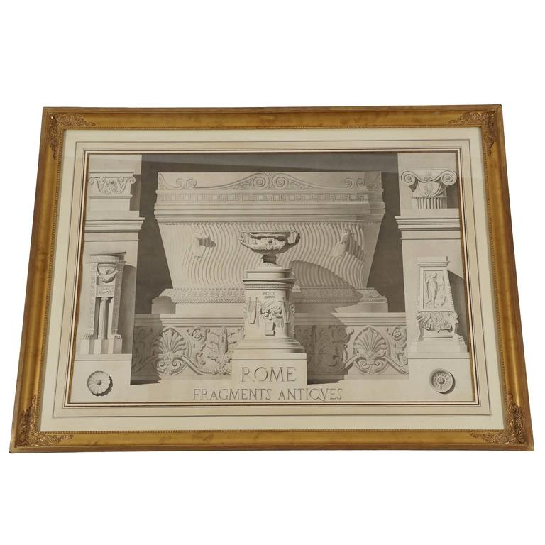 French Neoclassical Ink Drawing, Gabriel-Auguste Ancelet, circa 1855 1