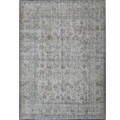 Persian Tabriz Rug with All-Over Floral Design