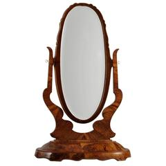 5.7ft / 175cm Tall Mahogany Dressing Mirror