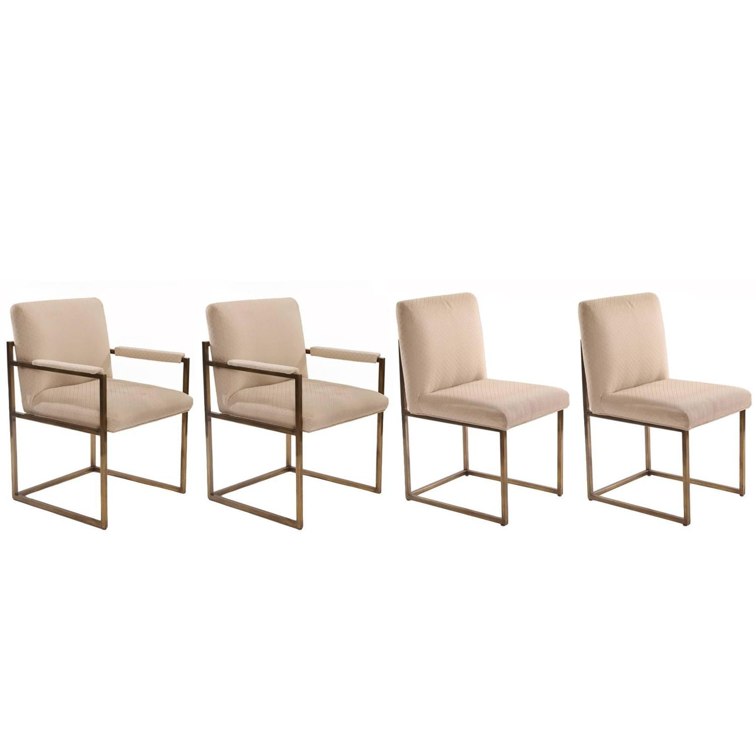 Beau Milo Baughman Thayer Coggin Bronze Dining Chairs For Sale At 1stdibs