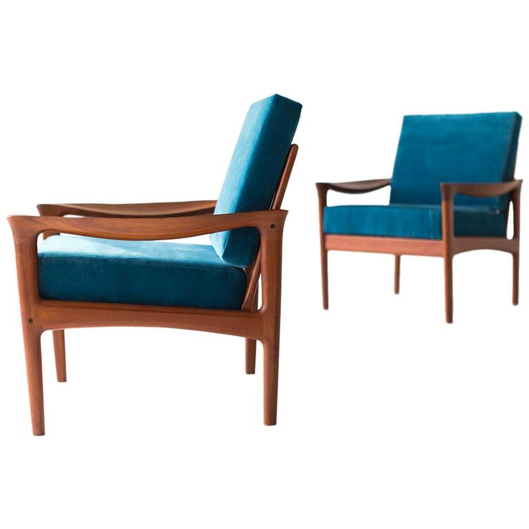 danish teak lounge chairs by glostrup mobelfabrik for sale at 1stdibs