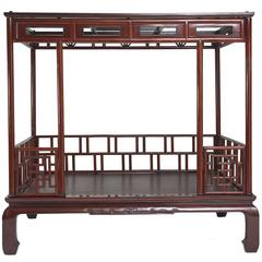 Antique Chinese Late 18th-Early 19th Century Six Post Canopy Bed, Zhejiang