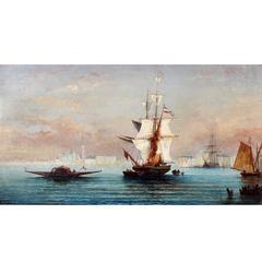 Painting, Italian  Seascape Oil Painting