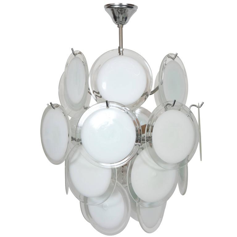 Gino Vistosi Murano Glass Chandelier 1