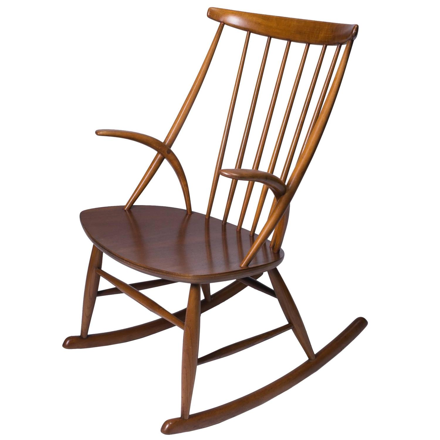 Scandinavian Modern Rocking Chair By Illum Wikkelso At 1stdibs