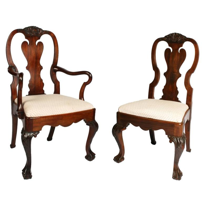 Set Of Six And Two Dining Chairs By Waring And Gillow At