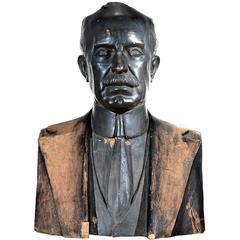 Lifesize Terracotta Bust President of the Pennsylvania Railroad