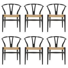 Hans Wegner Wishbone CH24 Dining Chairs for Carl Hansen