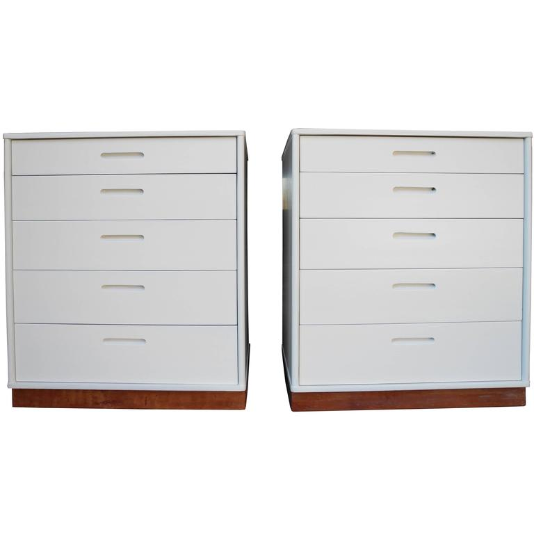 Modern Matching Nightstands or Dressers Designed by Edward Wormley for Dunbar For Sale