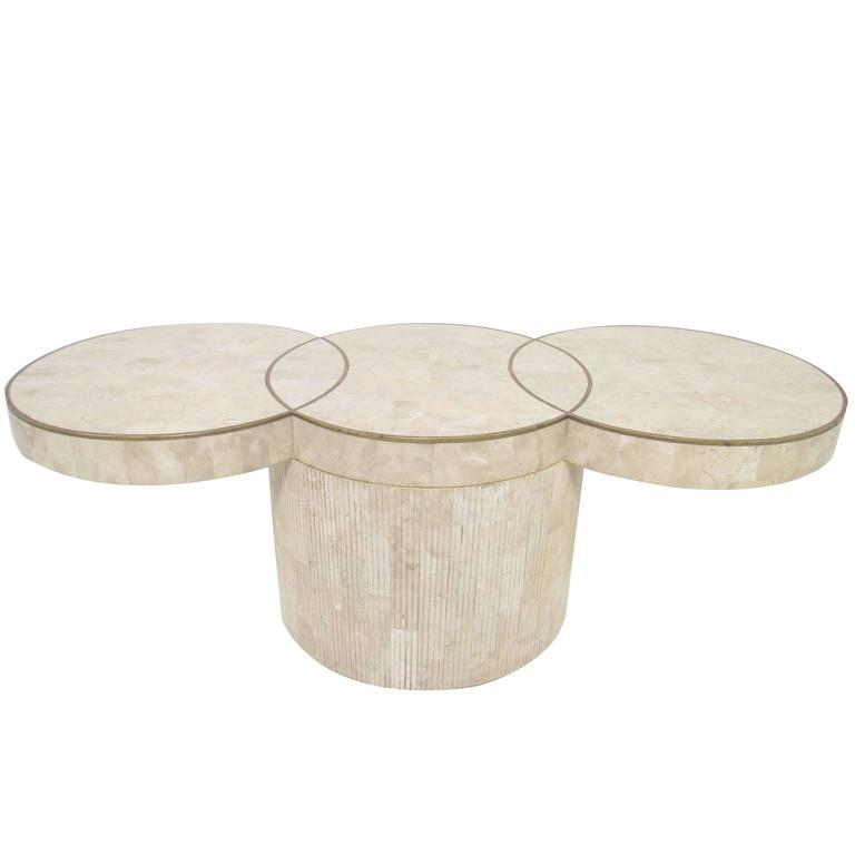 Tessellated Fossil Stone Cocktail Coffee Table By Maitland Smith 1