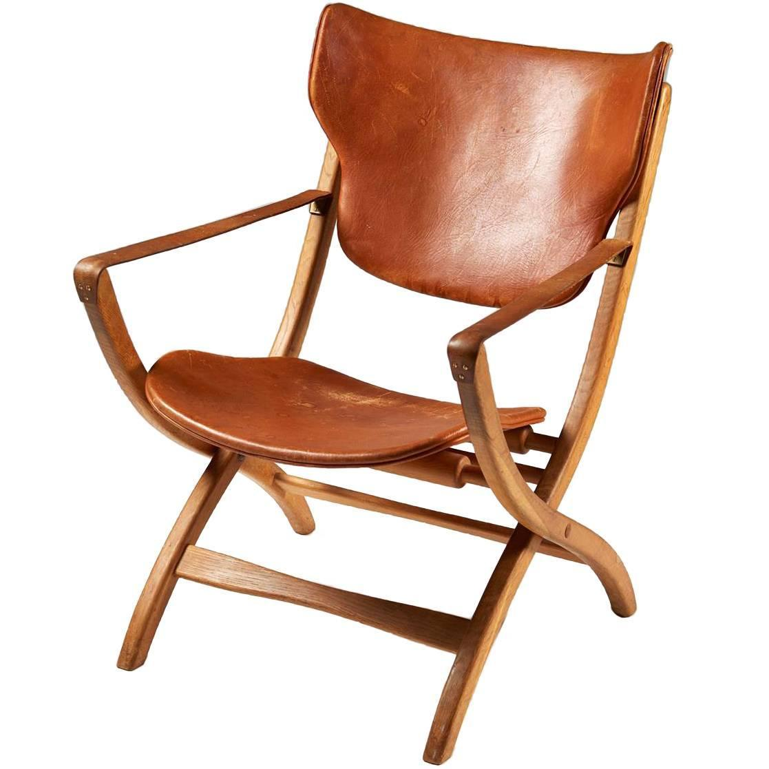 Folding Armchair U201cEgyptian Chairu201d Designed By Poul Hundevad, Denmark, 1950s  For Sale At 1stdibs