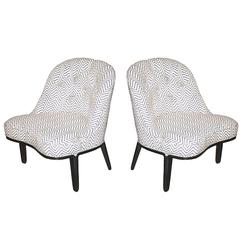 Edward Wormley for Dunbar Janus Collection Slipper Chairs