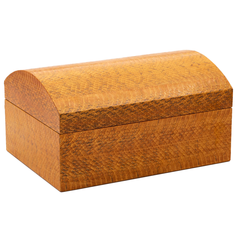 Karl Springer Lacquered Snakeskin Decorative Box