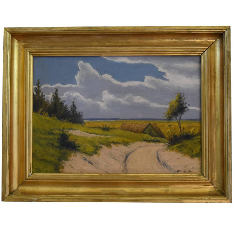Landscape Oil Painting with a Country Road