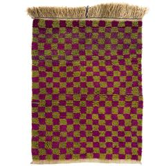 "Checkered Vintage ""Tulu"" Rug, Doormat"