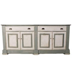 French Country Farm Style Painted Buffet