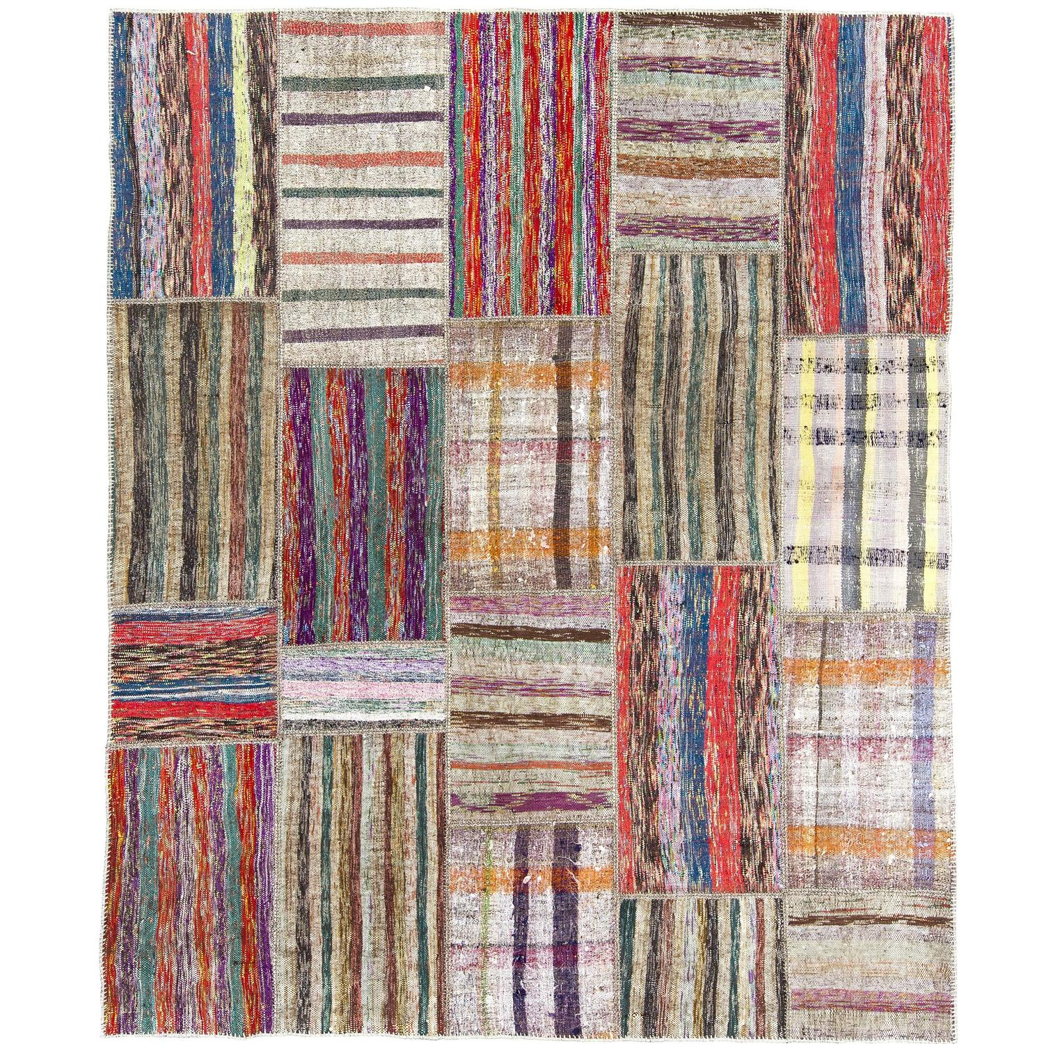 Colorful cotton turkish rag rug for sale at 1stdibs for Colorful rugs for sale